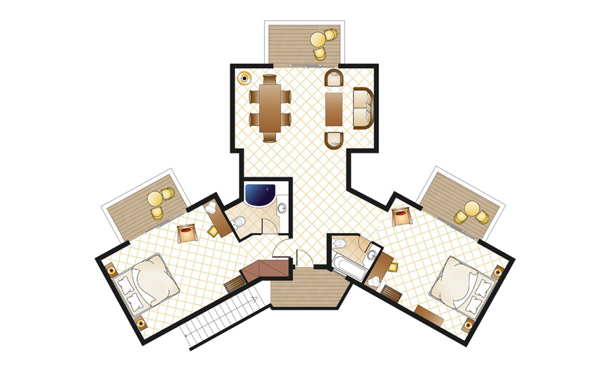 2-bedroom-bungalow-suite-sea-view-floorplan